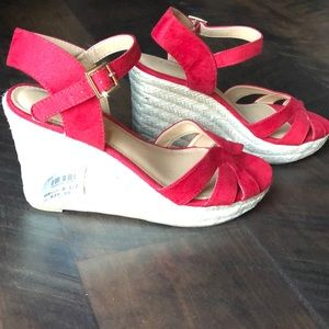 Red Wedge Sandals. Size 8.5. NWT.
